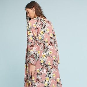 Anthropologie Tops - Anthropologie long floral kimono robe